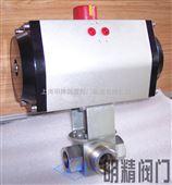 Q611气动液压三通球阀