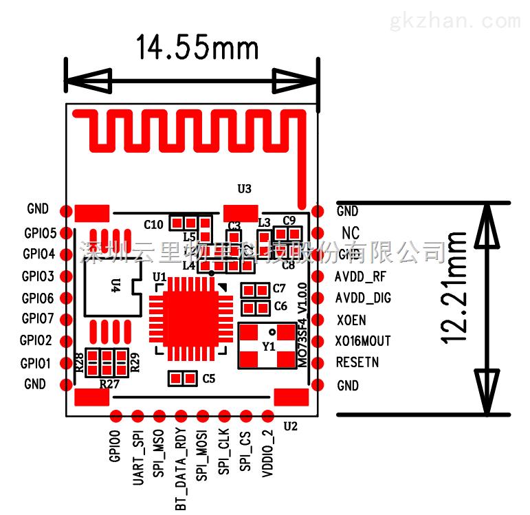 mo73sf4 蓝牙串口模块