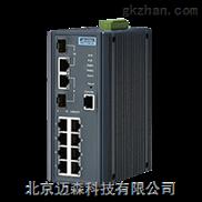 EKI-7710E-2C-研华8百兆电2千兆光网管型工业以太网交换机