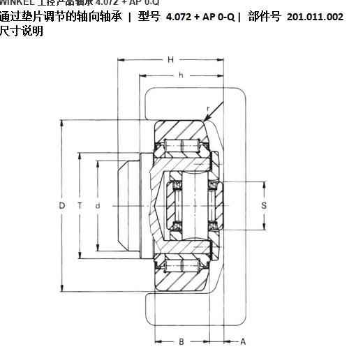 进口 WINKEL軸承4.072 + AP 0-Q 希而科
