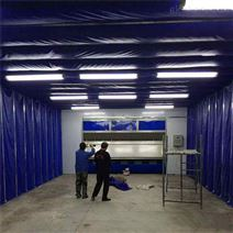 环保移动伸缩喷漆房8米以上配置及报价