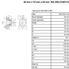 DKLFA30100.2RS希而科优势产品INA DKLFA系列滚珠轴承特价