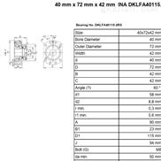 希而科优势产品INA DKLFA系列滚珠轴承特价