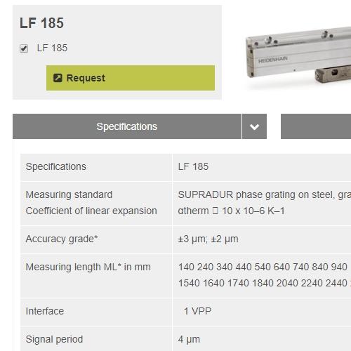 heidenhain海德汉 LF185系列 线性编码器