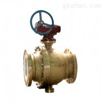 YQ347F蜗轮黄铜氧气球阀/天然气阀门