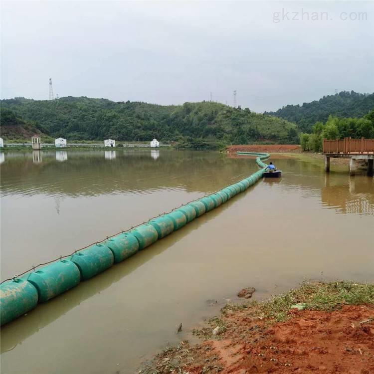 河道拦污用什么 塑料浮筒钢丝绳连接