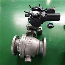 硬密封电动固定球阀高温高压WCB碳钢开关型