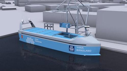 全球首艘純電自動駕駛集裝箱船將于2018年啟航
