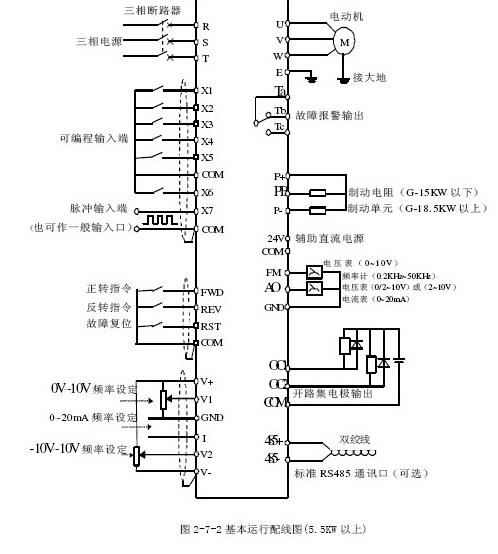 变频器工作原理及接线图,机床,电力,工程机械,自动化