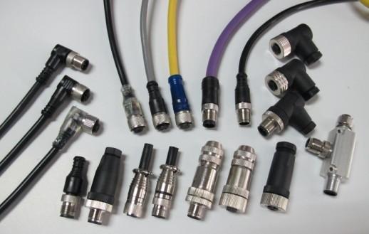 多接口总线分线盒M12圆形接插件预制带线产品