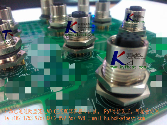 pcb板航空插头插座-电路板封装焊接插座-上海科迎法
