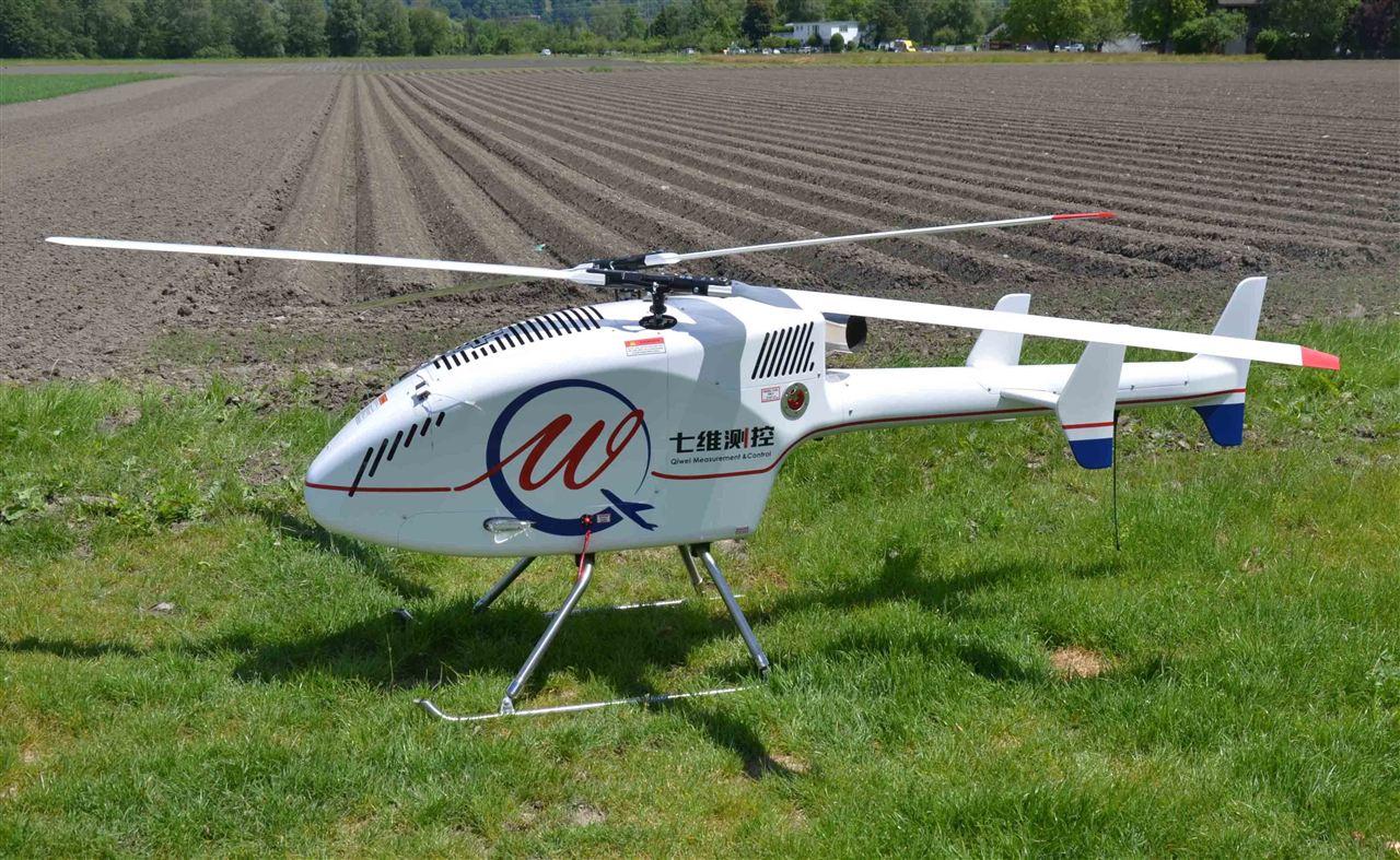 多光谱相机等,复合式交叉双桨结构使其比传统的单旋翼直升机的安全性